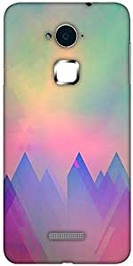 Snoogg abstract formations Designer Protective Back Case Cover For Coolpad Note 3 (White, 16GB)