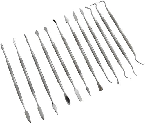 2X 12 Piece Stainless Steel Wax Carving Set