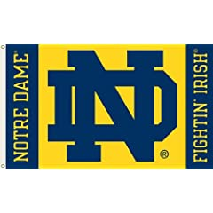 Buy NCAA Notre Dame Fighting Irish 3-by-5 Foot Flag ND Logo with Grommets by BSI