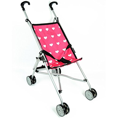 Hearts My First Doll Stroller for Kids - Super Cute Doll Stroller for Girls - Doll Stroller Folds for Storage - Great Gift for Toddlers (Old Baby Carriage compare prices)