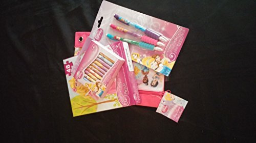 Disney Princess Activity Puzzle, Pencil, Pens and Crayola Pack
