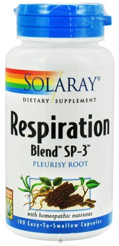 Solaray Respiration Blend SP-3 Capsules, 100 Count