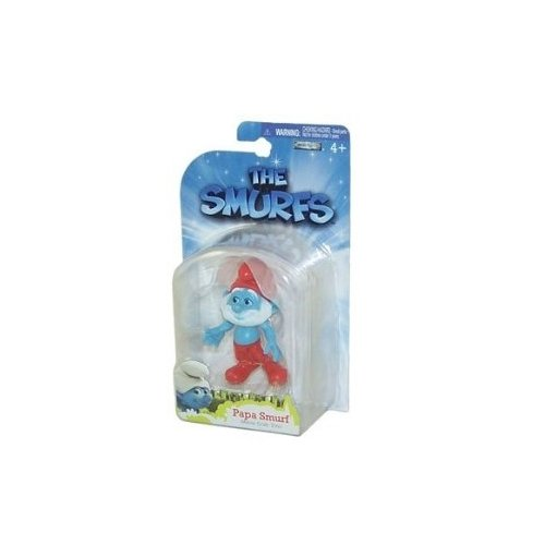 The Smurfs Movie Grab Ems Mini Figure Papa Smurf - 1
