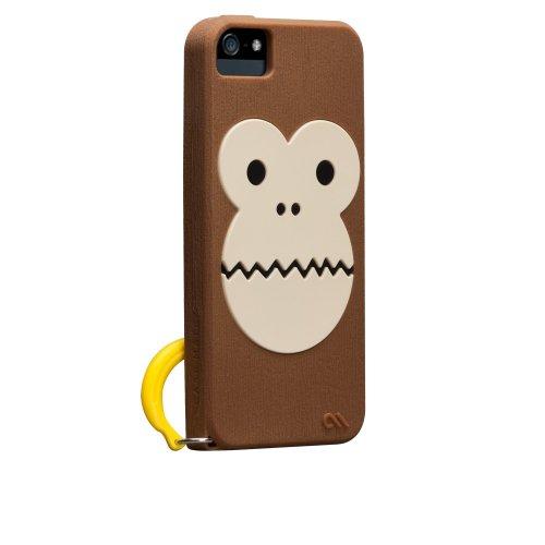 Case-Mate 日本正規品 iPhone5 CREATURES: Bubbles Monkey Case, Brown クリーチャーズ: バブルス モンキー&バナナ シリコン ケース, ブラウン CM022446