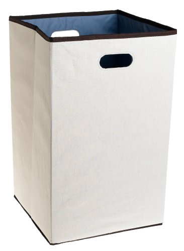 Rubbermaid Configurations Folding Laundry Hamper, 23-inch, Natural (FG4D0602NATUR) image