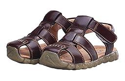 Happy Cherry Hot Fashion Newborn-18M Baby Boy\'s Shoes Cute Soft Sole Velcro Summer Sandals Size 25 Brown