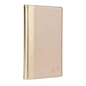 Jo Jo Cover Millar Series Leather Pouch Flip Case For Lenovo S880 Golden Golden