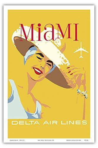 miami-florida-delta-air-lines-aerea-de-viaje-maestro-de-arte-c1960s-12-x-18