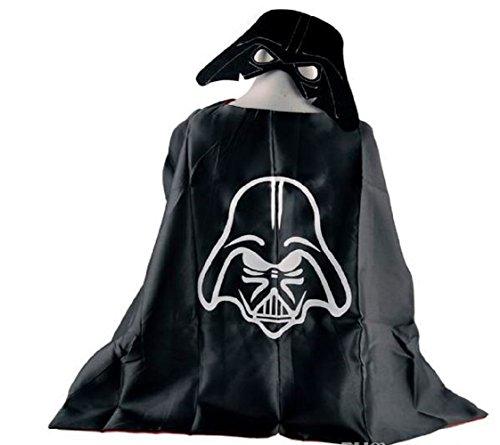 [OLG Darth Vader Superhero Cape + Mask Children Halloween Costume] (Batwoman Costume Cape)