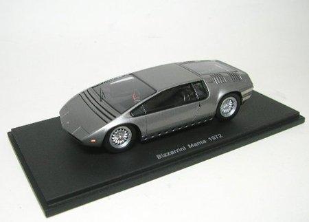 1972-bizzarrini-manta-concept-silver-1-43-spark-s0694-by-spark