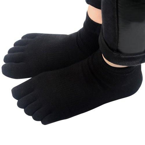 CompressionZ Yoga Socks Non Slip Full Toe (Black)-Women