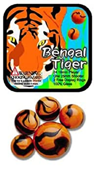 Glass Mega Marbles Bengal Tiger Game…