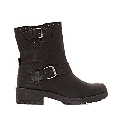 Coolway Donna Boots Con Cinturini Barlow Taglia 38 Nero