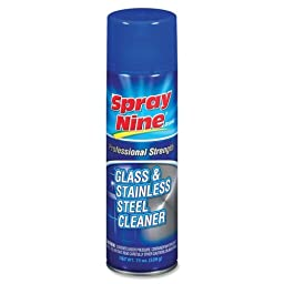 Wholesale CASE of 25 - Permatex Spray Nine Stainless Steel/Glass Cleaner-Glass/Stainless Steel Cleaner, Professional Strength, 19oz.