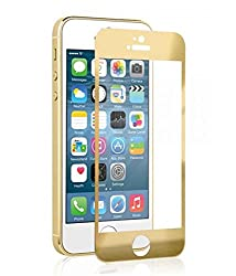 Apple iPhone 5 Gold Tempered Glass Screen Protector By- ESMEE