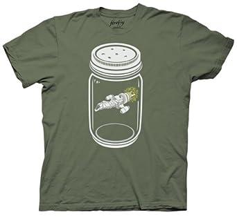 Firefly Ship In A Jar T-shirt (Large, Black)