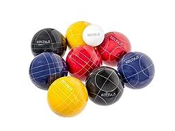 Kelsyus Premium Resin Bocce Ball Outdoor Recreational Game Set