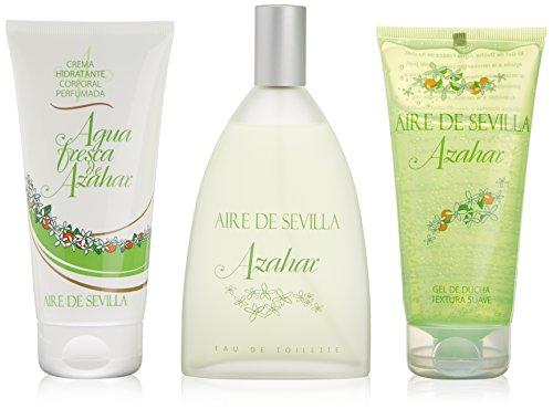 Aire De Sevilla Agua Fresca De Azahar Eau De Toilette Spray 150ml Set 3 Parti