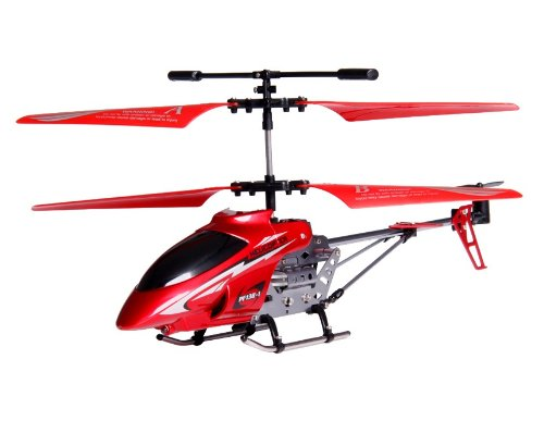 3-Channel RC Helicopter with Gyroscope and Light (Red)