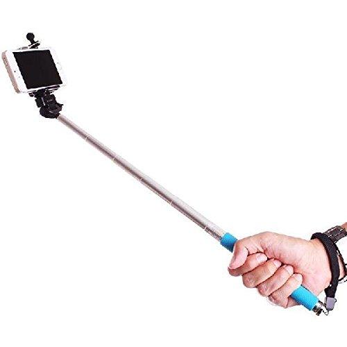 selfie stick stainless steel adjustable phone clamp for selfie designed for self shooting by. Black Bedroom Furniture Sets. Home Design Ideas