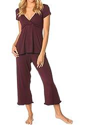 Majamas Womens' The Lacey Cropped MJ Nursing Pajamas