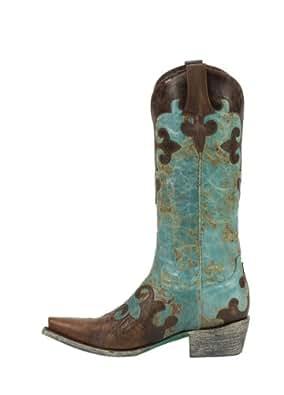 Lane Boots Women's Dawson Cowboy Boot - Turquoise - 6.5