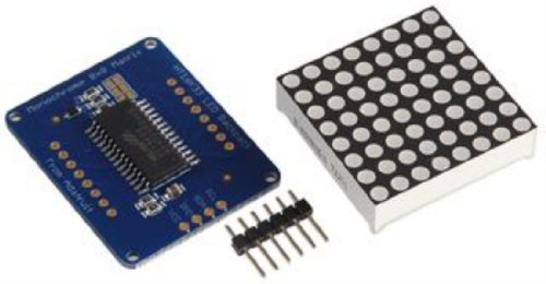 Adafruit Industries - 1051 - 1.2 In 8X8 Green Led Matrix With I2C Backpack