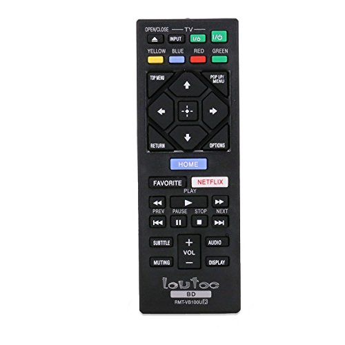 Loutoc RMT-VB100U New Replaced Remote Control Fit For Sony Blu-ray DVD DISC Player (Blu Ray Remote Control compare prices)