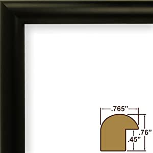Craig Frames fw2bk2436A 0.765-Inch Wide Picture/Poster Frame in Smooth Finish, 24 by 36-Inch, Matte Black