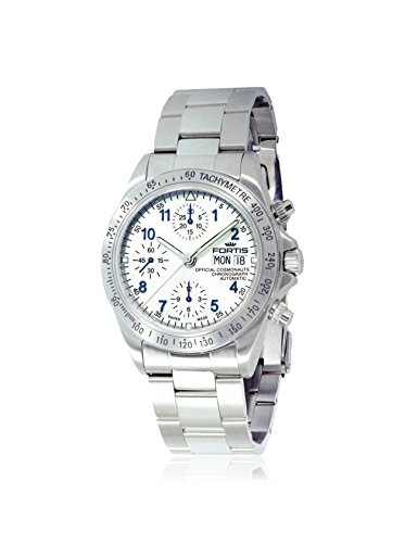 Fortis Men's 630.10.92 M Cosmonauts Chronograph Grey/Beige Stainless Steel Watch