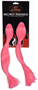 Hot Leathers Hot Helmet Pigtail (Pink, 14 Inches)