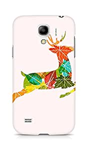 Amez designer printed 3d premium high quality back case cover for Samsung Galaxy S4 Mini (Colorful Reindeer Jump)