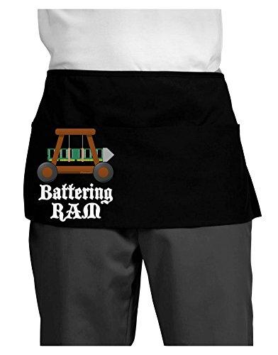 TooLoud Battering RAM Text Dark Adult Mini Waist Apron - Black - One-Size