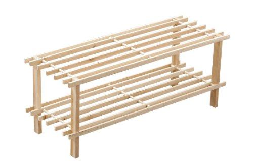 premier-housewares-two-tier-slatted-natural-cedar-wood-shoe-rack