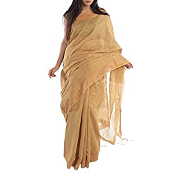 Kiara Crafts Cotton Saree (kc-008_Gold)