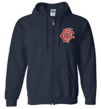 Chicago Fire Department Full Zip Navy Hoodie by Gildan