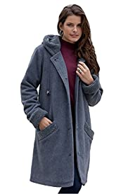 Roamans Women's Plus Size Sherpa Hood…
