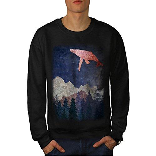 fantasy-whale-fly-artsy-fish-men-new-black-xl-sweatshirt-wellcoda
