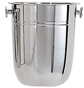 Adcraft WB-8 8 qt Capacity, Stainless Steel Wine Bucket with Deluxe Mirror Finish