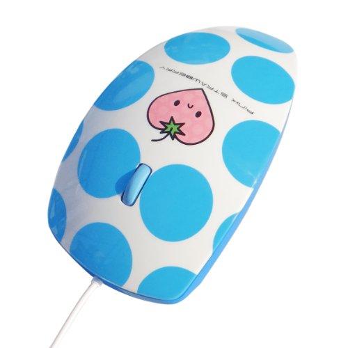 マウスフィット mouse fit Blue リラクゼーション用バイブレーション機能付きマウス (ブルー)