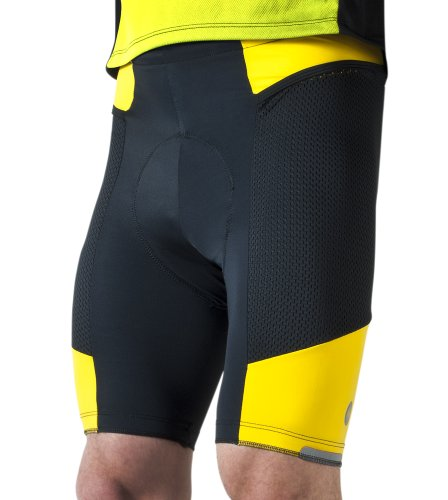 Image of Mens Gel Padded Spandex Bicycle Touring Shorts (B00593YYXM)