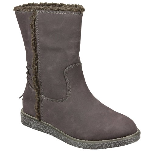 Timeless - Claudia Ghizzani Fleece Lined Short Boot in grey Casual Boots Women -
