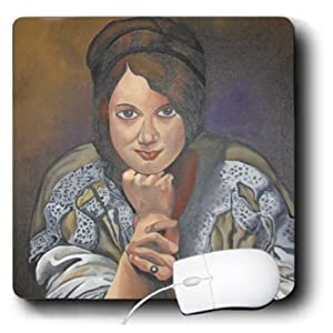 mp_46736_1 Taiche - Acrylic Painting - Women - Thinking Of You - art nouveau, brown, fashion, portrait, pose, realism, social history - Mouse Pads