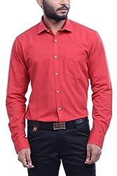 Hoffmen Men's Dobby Cotton Formal Shirt