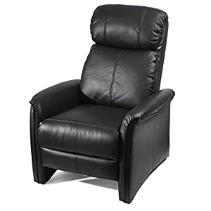 Home Leather Soft Pad Recliner 3 Positional Leather Cozy Recliner Chair