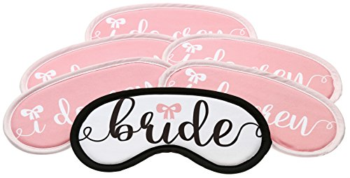 Bachelorette Party Ideas - Bundle Set of 6 Premium Soft Microfiber Sleep Masks Perfect for Parties, Weddings, Brides & Bridal Parties Recovery Eye Masks Favor