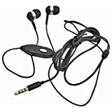 3.5mm Ear Buds Headset Black for Blackberry Curve 8900, 9350, 3G 9300, 9360/ Bold 9000, 9700, 9650, 9930, 9900/ Storm 9530, 9500/ Storm 2 9550, 9520/ Tour 9630/ Torch 9800, 9810, 9850/ PlayBook