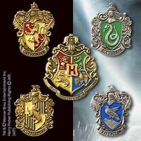 Harry Potter Hogwarts House Pins Set of 5
