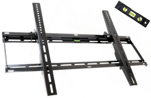GSI High Grade Sturdy-Steel Tilt Wall Mount for Plasma/LCD/LED/TV/DVD/Combo/Blu-Ray Flat-Panel Screens/Displays, Mounting Brackets Fits 32-Inch to 55-Inch Screens