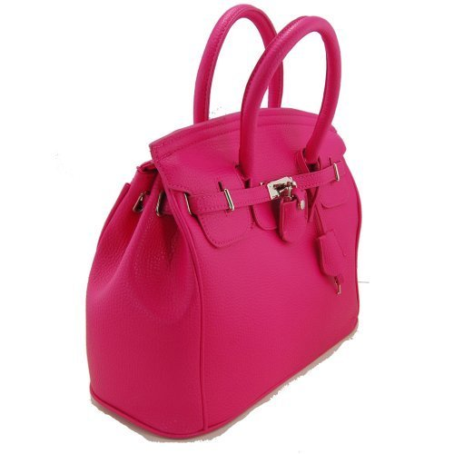 Best Deals! THG Gorgeous PU Faux Leather Safety Padlock Designer Inspired Shopper Hobo Tote Bag Hand...